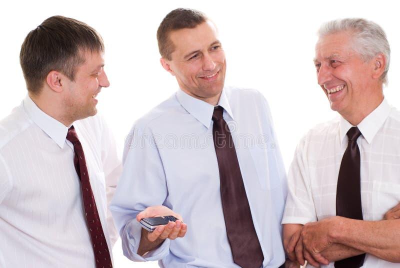 Biznesmeni na biel zdjęcia stock