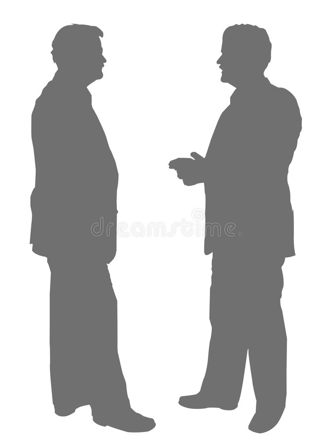 biznesmeni odizolowane royalty ilustracja