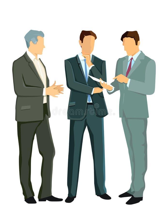 Biznesmeni w dyskusi ilustracja wektor