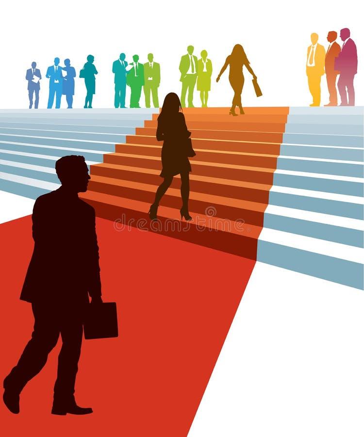 Biznesmeni w pośpiechu ilustracji