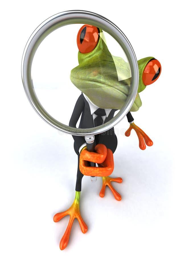 biznesowa żaba ilustracja wektor
