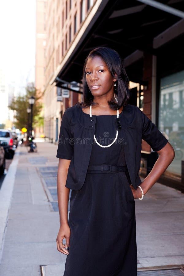 biznesowa Amerykanin afrykańskiego pochodzenia kobieta fotografia royalty free