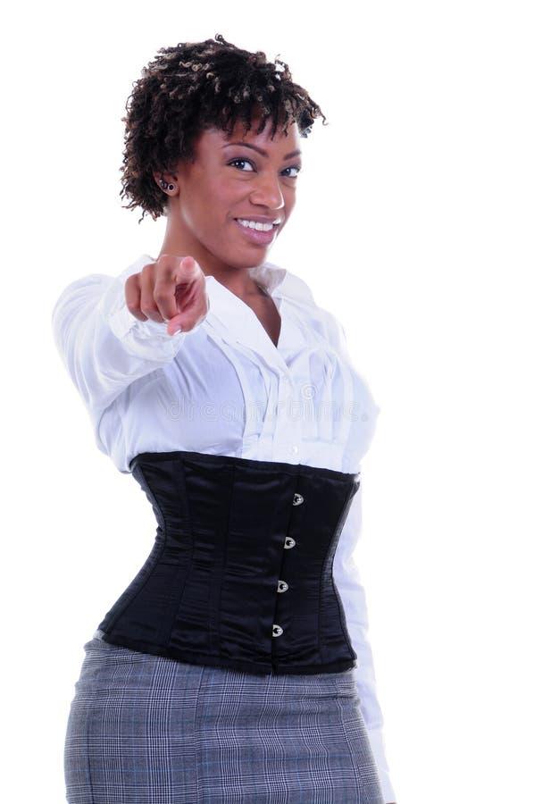 biznesowa Amerykanin afrykańskiego pochodzenia kobieta obrazy stock