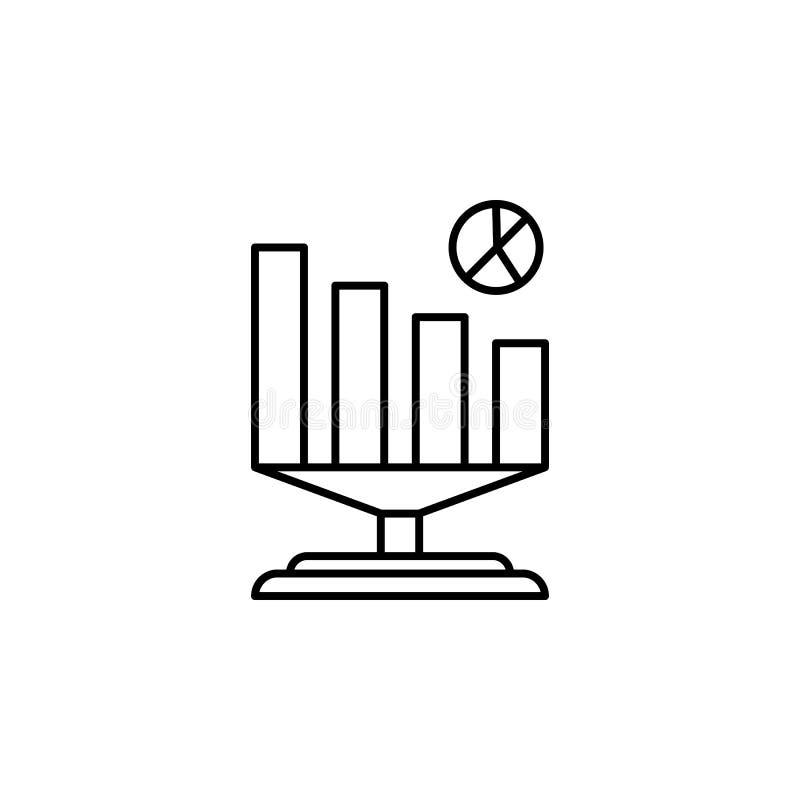 Biznesowa analityki ikona Element sztucznej inteligenci ikona dla mobilnych pojęcia i sieci apps Cienieje kreskowego Biznesowego  ilustracji