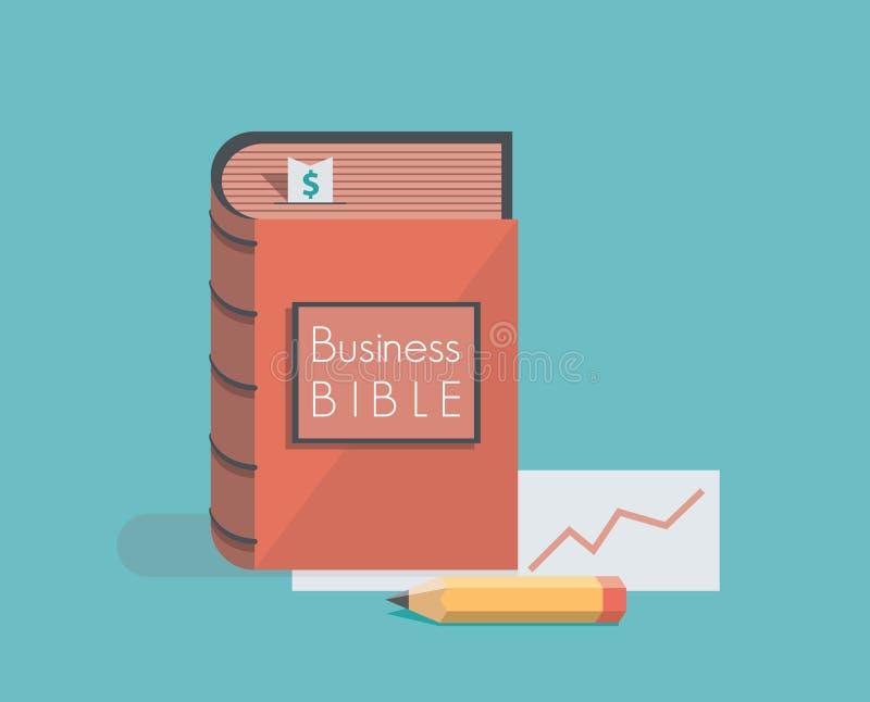 Biznesowa biblia royalty ilustracja