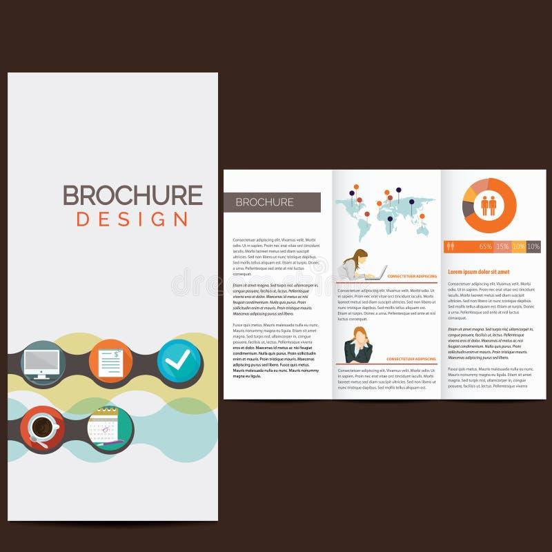 Biznesowa broszurka royalty ilustracja