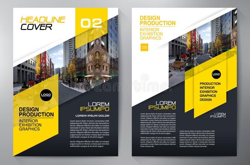 Biznesowa broszurka Ulotka Projekt Ulotek a4 szablon royalty ilustracja