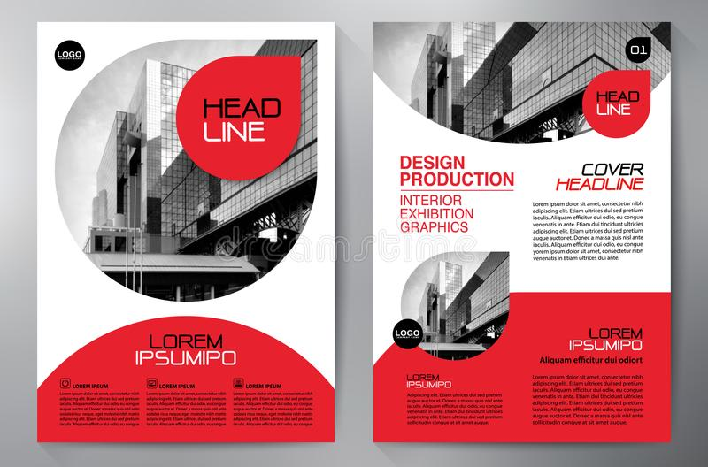Biznesowa broszurka Ulotka Projekt Ulotek a4 szablon Okładkowy okrzyki niezadowolenia ilustracja wektor