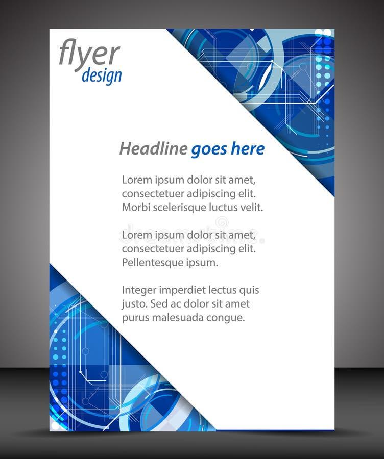 Biznesowa A4 broszury pokrywa z technologicznym wzorem ilustracji