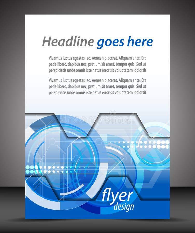 Biznesowa A4 broszury pokrywa z technologicznym wzorem royalty ilustracja