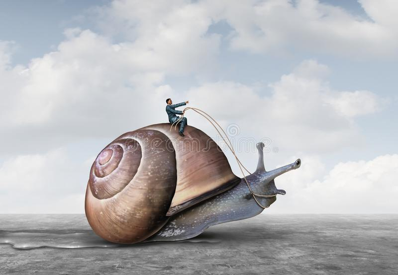 Biznesowa cierpliwość ilustracja wektor