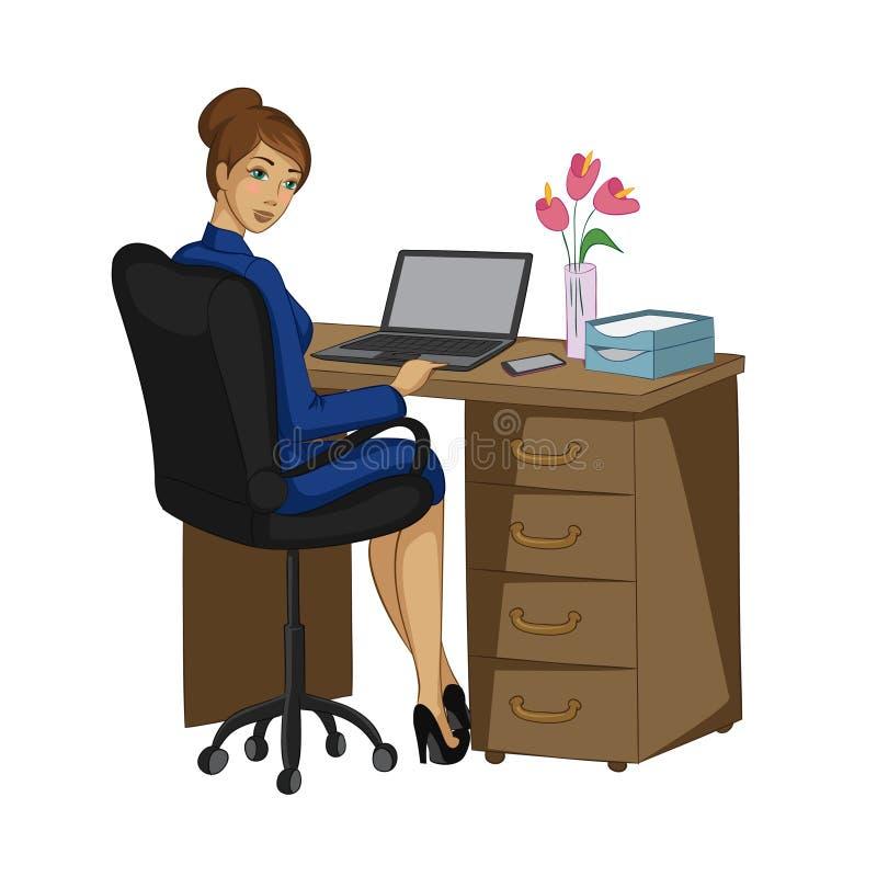 Biznesowa dama z notatnikiem obraz royalty free
