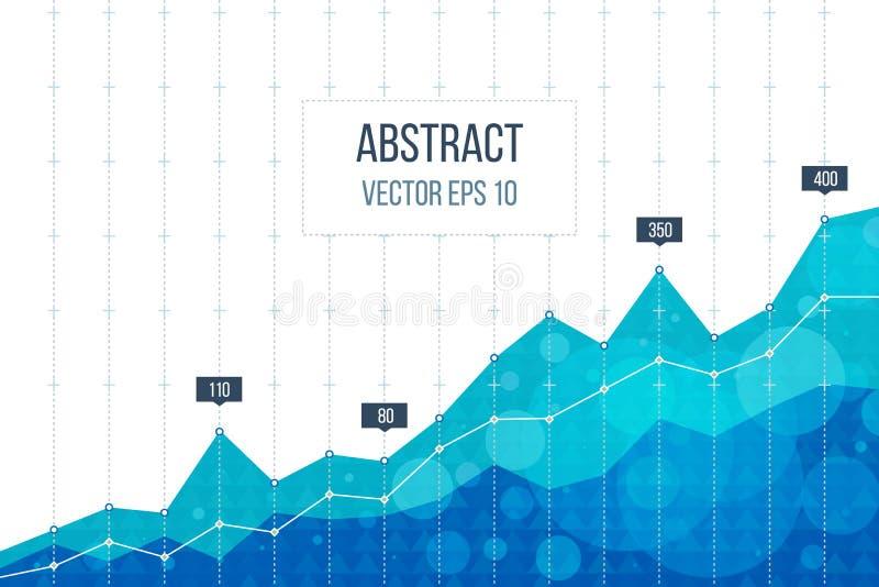 Biznesowa diagrama wykresu mapa ilustracja wektor