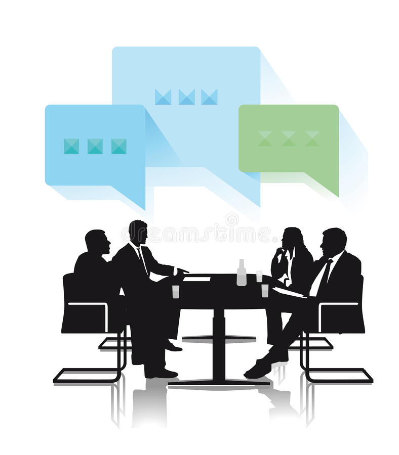 Biznesowa dyskusi grupa ilustracji