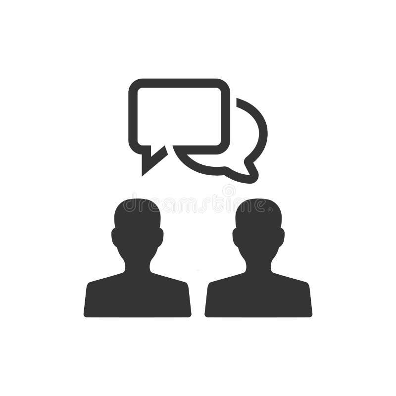 Biznesowa dyskusi ikona ilustracja wektor