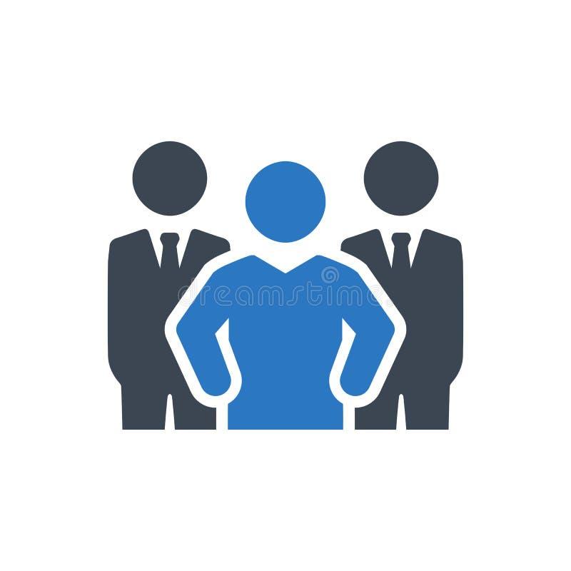 Biznesowa ekspert drużyny ikona ilustracji