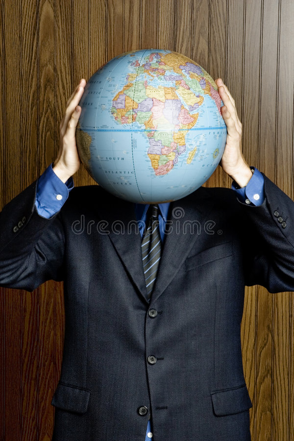 biznesowa globalna głowa zdjęcie royalty free