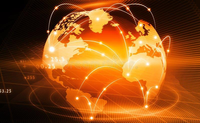 biznesowa globalna sieć royalty ilustracja