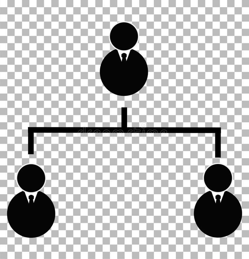 Biznesowa hierarchical ikona na przejrzystym tle biznes h royalty ilustracja