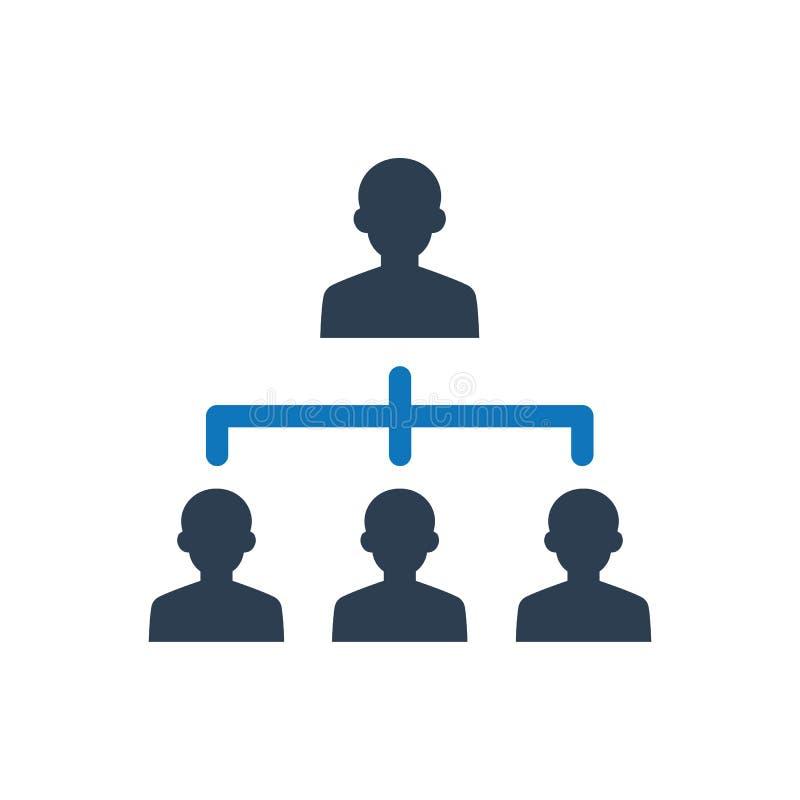 Biznesowa hierarchii ikona royalty ilustracja