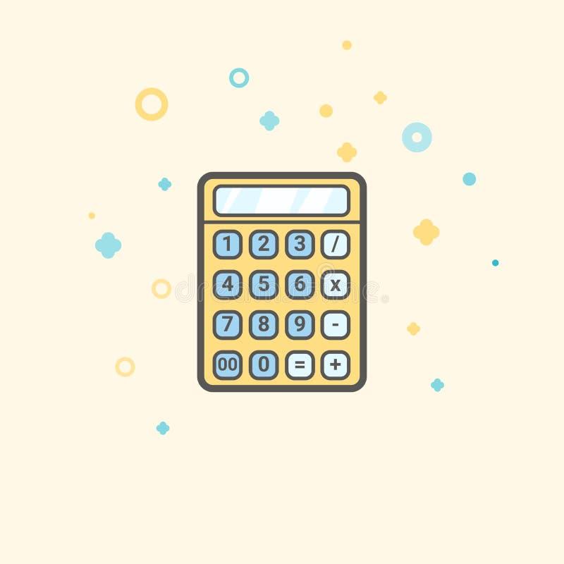 Biznesowa ikona, zarządzanie Prosta wektorowa ikona kalkulator dla maths, biura i biznesu, Mieszkanie styl ilustracji