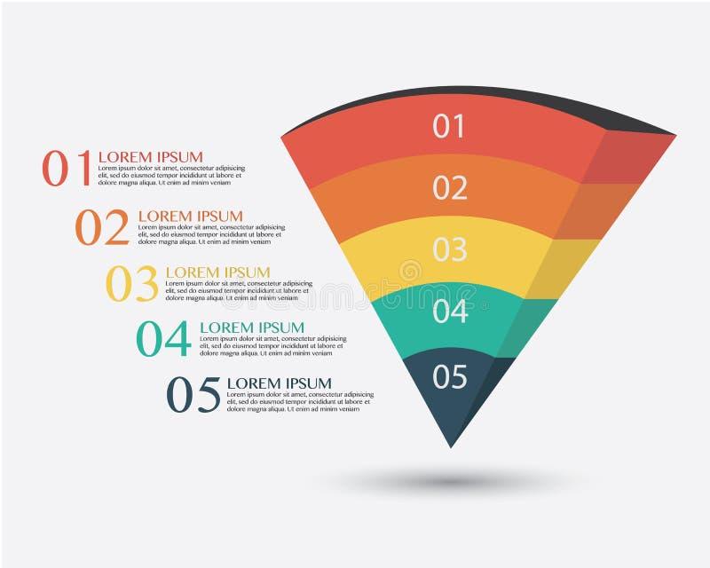 Biznesowa Infographics wektoru ilustracja ilustracji