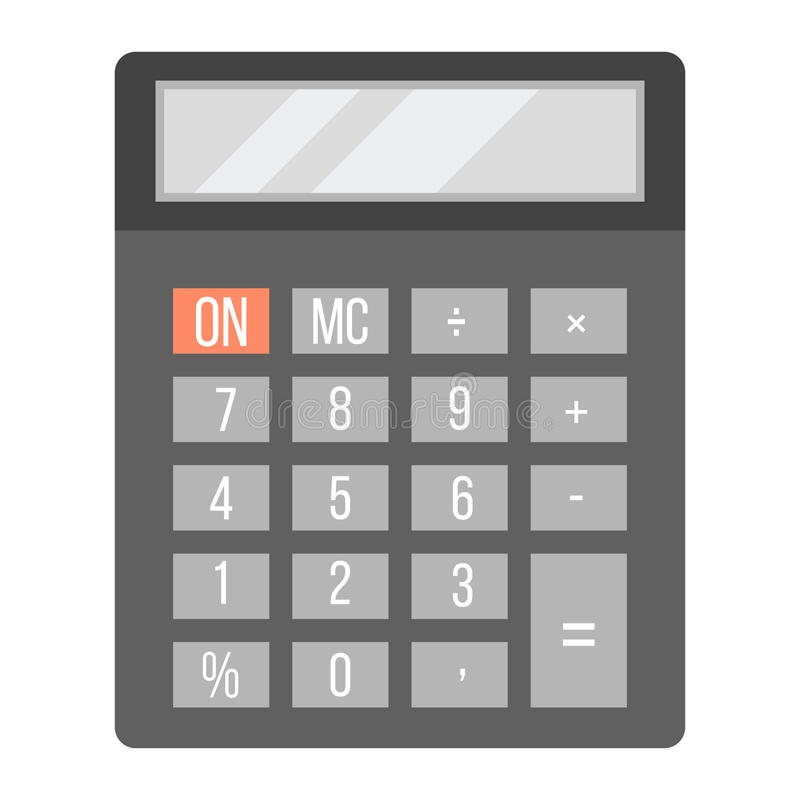 Biznesowa kalkulator technologii wektoru ikona royalty ilustracja
