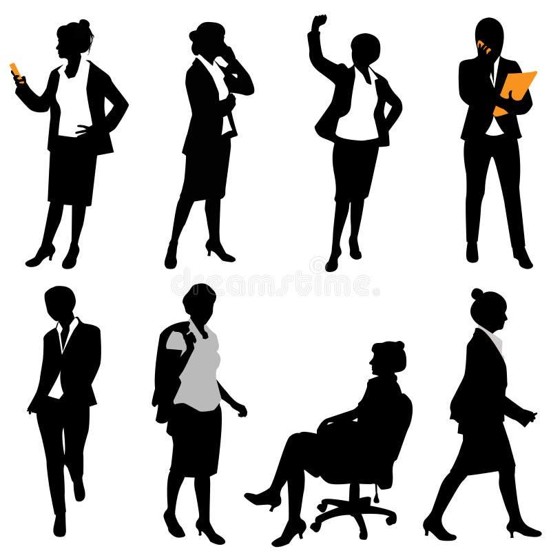 biznesowa kobieta ilustracja wektor