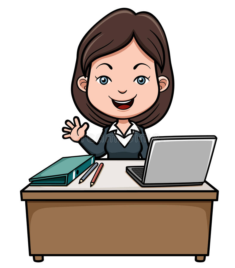 Biznesowa kobieta ilustracji