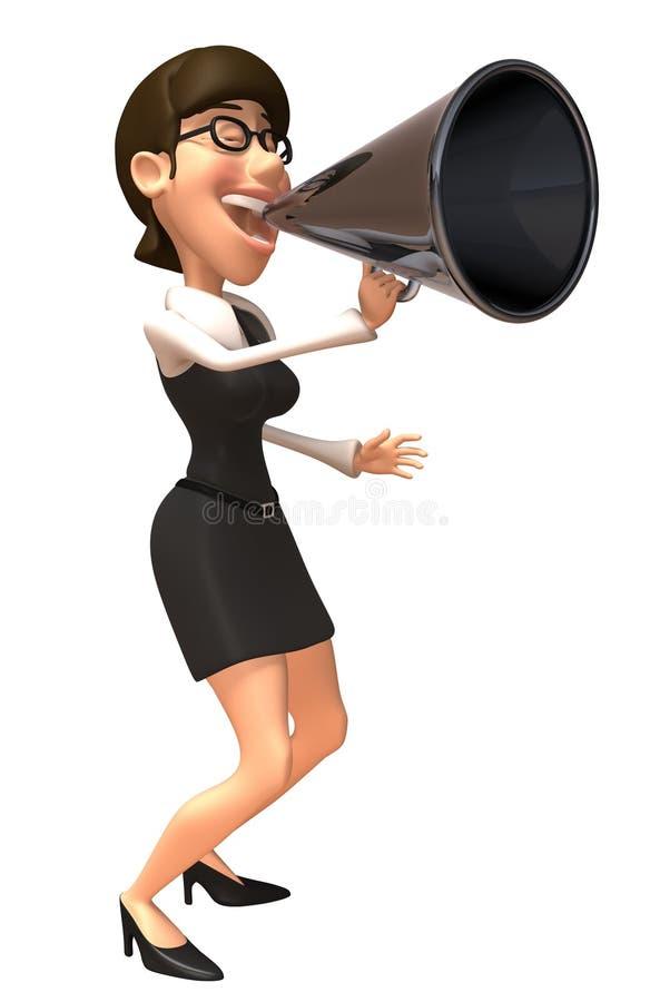 biznesowa kobieta royalty ilustracja
