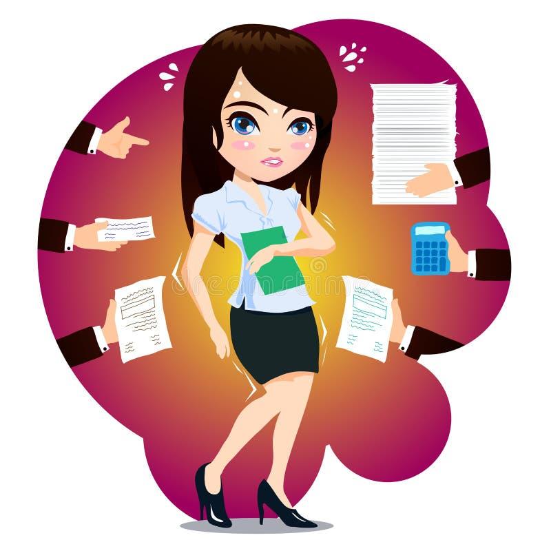 Biznesowa kobieta Dostać Nad ładunkiem ilustracji