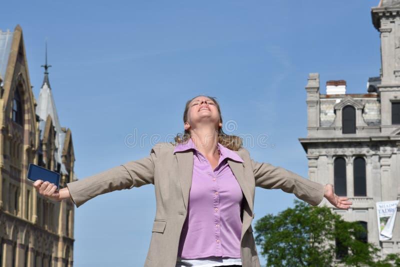 Biznesowa kobieta I wolność obrazy royalty free