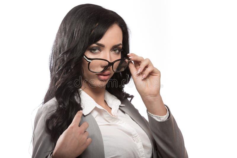 Biznesowa kobieta z szkłami zdjęcia royalty free