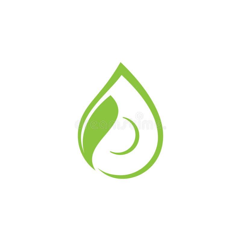 Biznesowa korporacyjna eco talerza formy kropelka z liściem royalty ilustracja