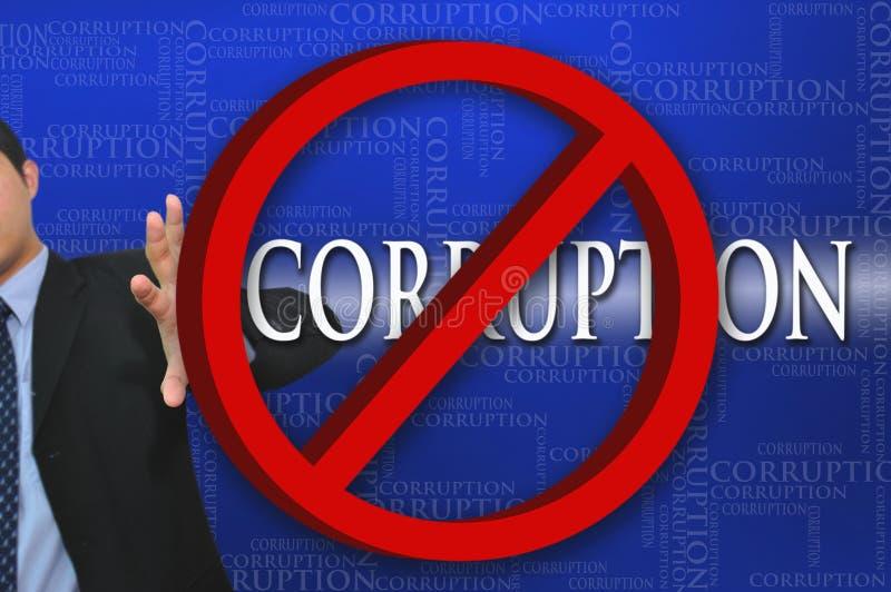 biznesowa korupcja ilustracji
