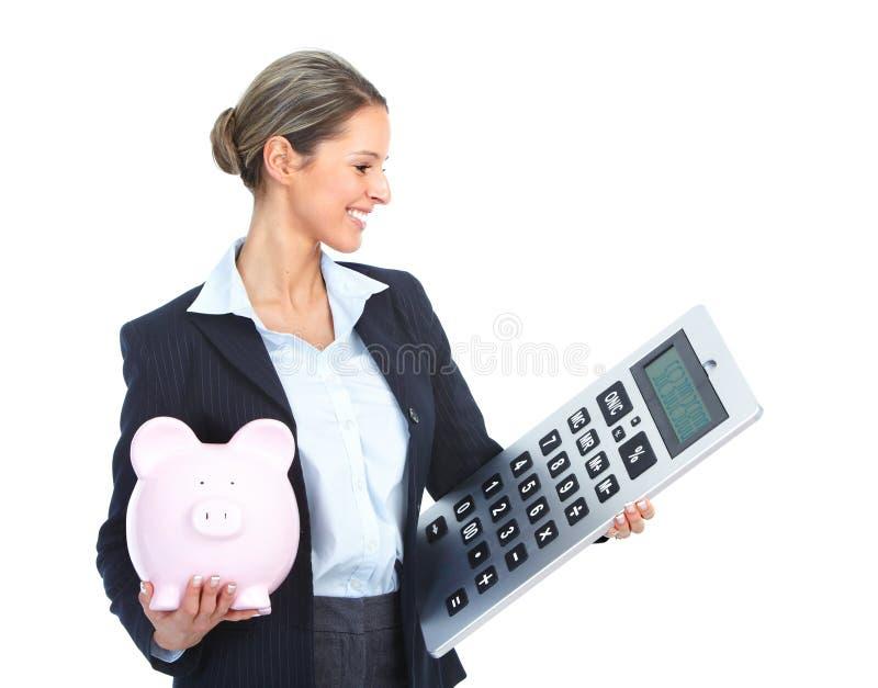 biznesowa księgowy kobieta obraz stock