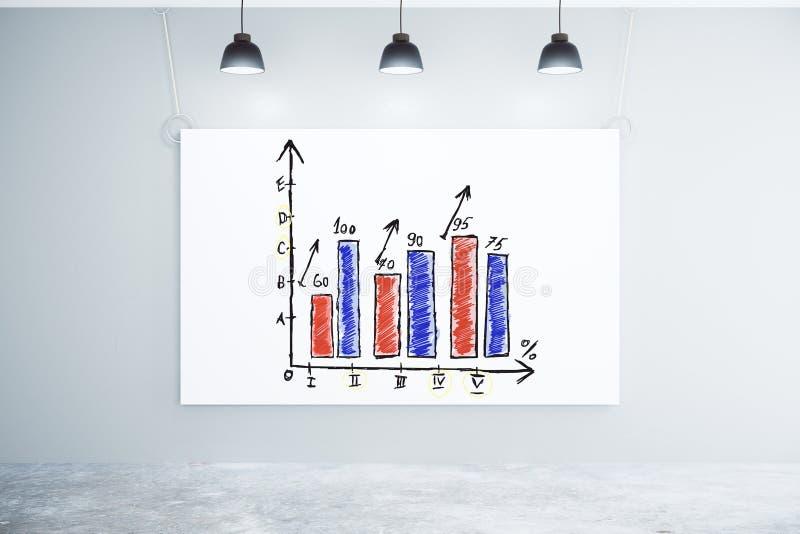Download Biznesowa Mapa Na Białym Plakacie Na ścianie W Pustym Pokoju Z Co Zdjęcie Stock - Obraz złożonej z biznes, tło: 65225584