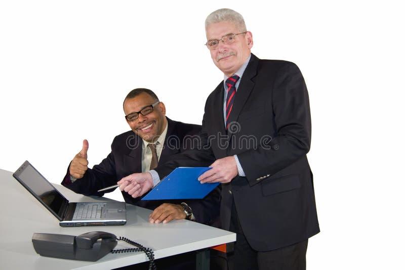biznesowa międzyrasowa pomyślna drużyna zdjęcia stock