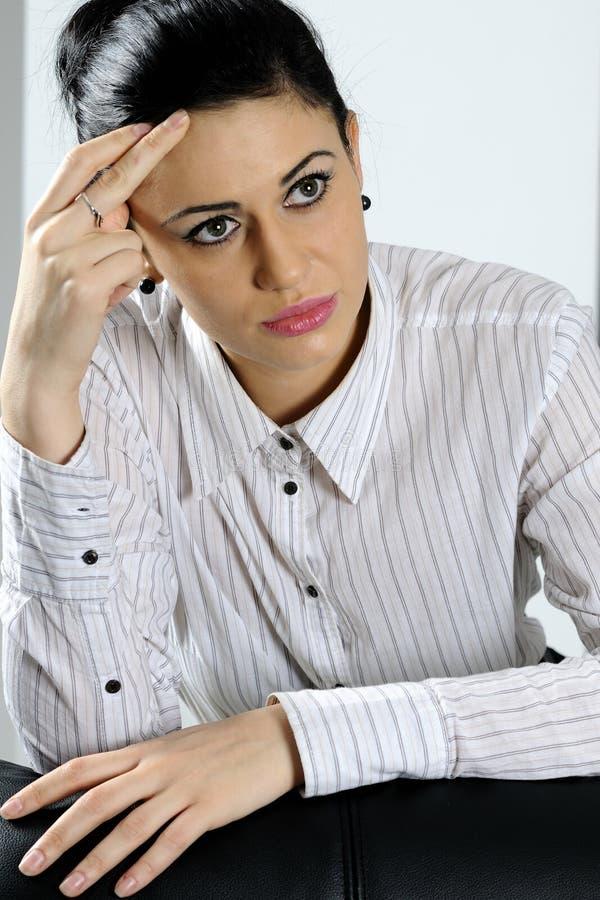 biznesowa myśląca kobieta zdjęcia stock