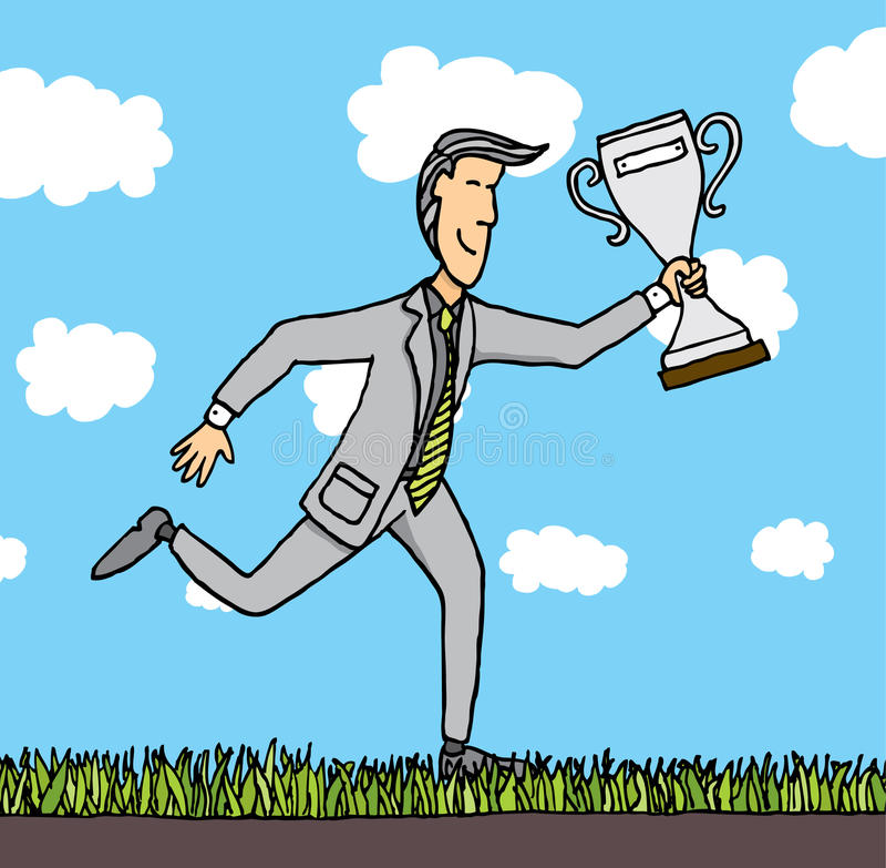 Biznesowa nagroda, Nagradzający biznesmen/ royalty ilustracja
