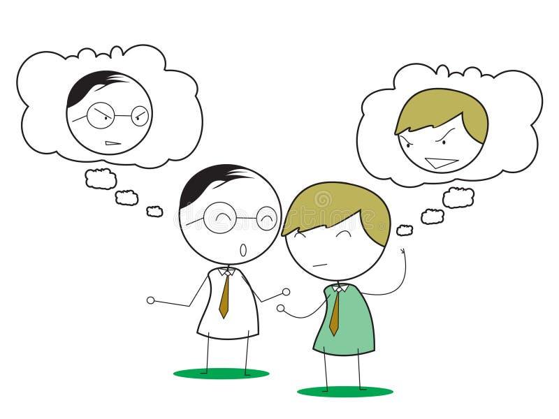 Biznesowa negocjacja ilustracji
