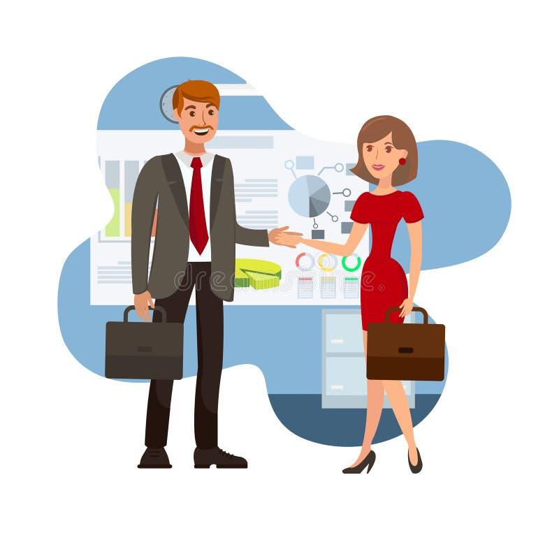 Biznesowa negocjacja koloru wektoru ilustracja royalty ilustracja