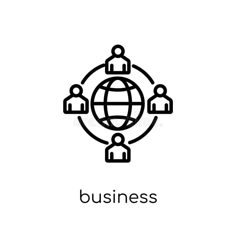 biznesowa networking ikona Modny nowożytny płaski liniowy wektorowy busin royalty ilustracja
