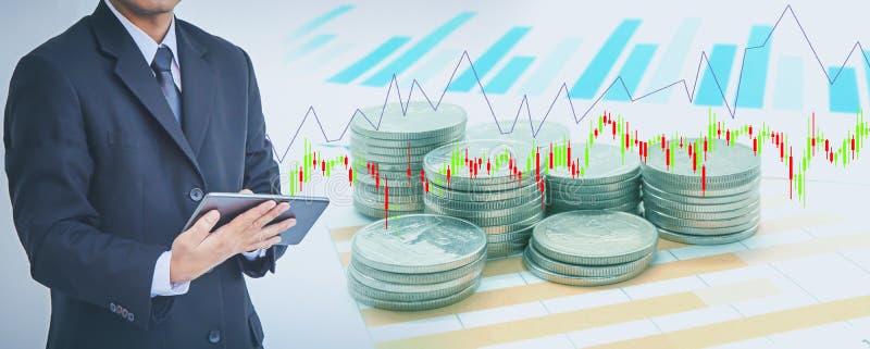 Biznesowa nowożytna technologia, finansowy inwestorski pojęcie obraz stock