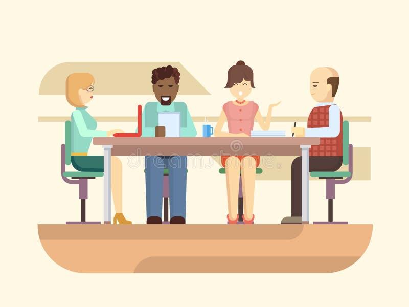 Biznesowa odprawa ilustracji
