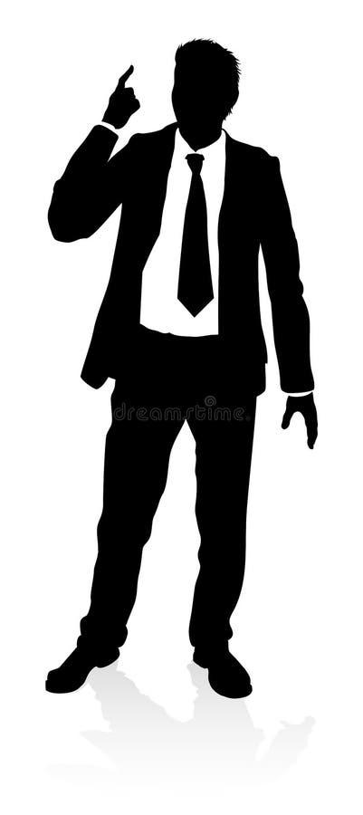 Biznesowa osoby sylwetka royalty ilustracja