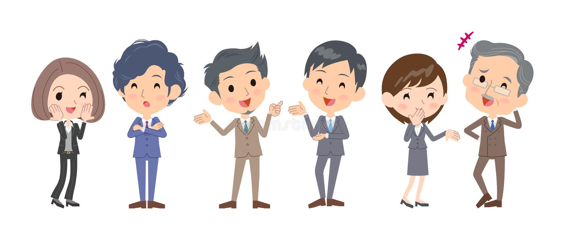 Biznesowa people_communication strona strona - obok - royalty ilustracja