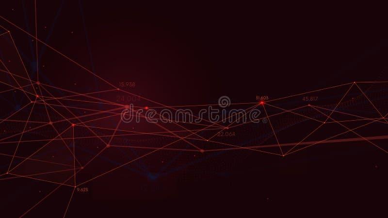 Biznesowa plexus struktury prezentacja, cyfrowy analityki pojęcia wektoru tło ilustracja wektor