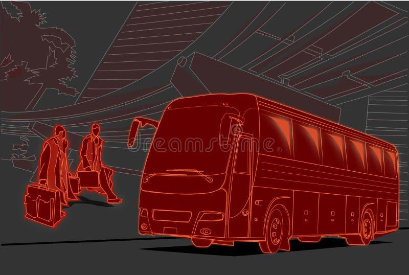 biznesowa podróż ilustracji
