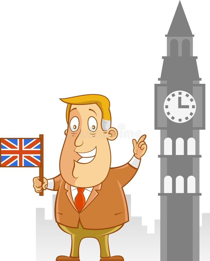 Biznesowa podróż UK ilustracji